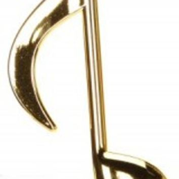 "12"" Royal Symphony Glamourous Gold Musical Eighth Note Christmas Ornament"