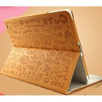 Magic Girl Little Witch Series PU Leather Stand Case Cover iPad Mini (Brown)