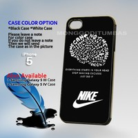 Nike Just do it quote, Photo Hard Plastic iPhone 5 Case Cover