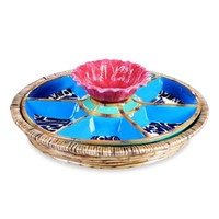 Tracy Porter® Poetic Wanderlust® Magpie Chip & Dip with Rattan Holder