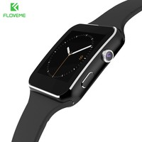FLOVEME Smart Watch LCD Camera Android Bluetooth Smartwatch SIM Card Men Women Wristwatch For Samsung Sony HTC Huawei Smartphone