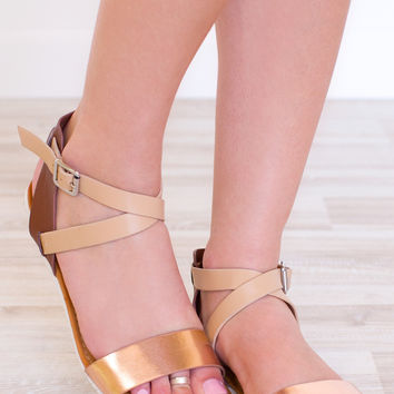 Kassia Sandals - Rose Gold