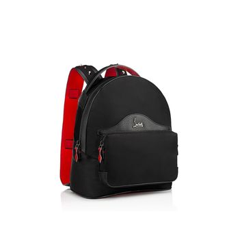 Backloubi Small Backpack Black Nylon - Handbags - Christian Louboutin