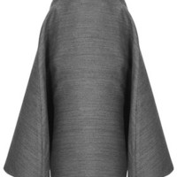 **Full A-Line Midi Skirt by Unique - Grey
