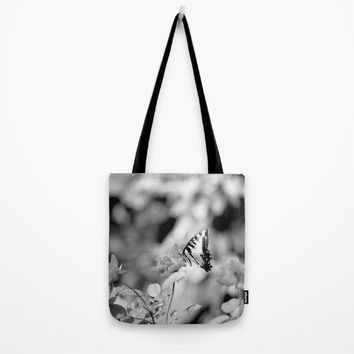 Butterflies Are Free Tote Bag by Theresa Campbell D'August Art