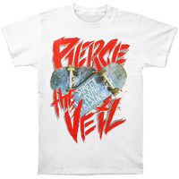 Pierce The Veil Men's  Street Youth Skateboard T-shirt White Rockabilia