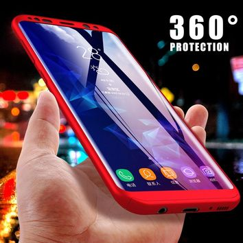 Luxury 360 Full Degree Cover Phone Case For Samsung S9 S8 Plus Case For Samsung Galaxy A5 2017 S7 Edge Note 8 5 Shockproof Cases