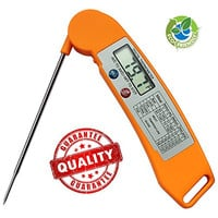Myrnason Latest Cooking Thermometer - Ultra Fast Digital Thermometer for All Food, Grill, BBQ and Candy - Meat Thermometer That is Built To Last (Premium Orange)