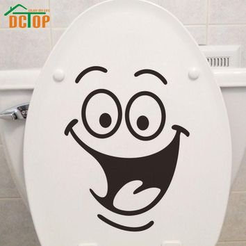 Emoticons Stickers Funny Toilet Sticker Vinyl Creative Wall Decals Happy Face Wall Stickers