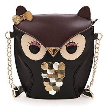 Cheesea New Women Lady Splicing Color Cross Body Bag Owl Pattern Holder Cover Bag Hand bag