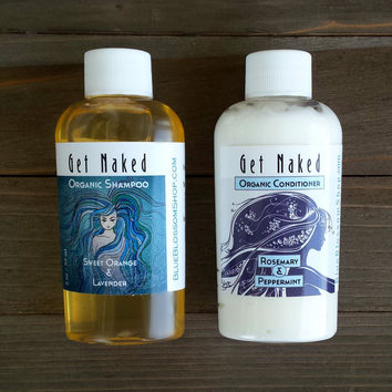 Organic Shampoo and Conditioner - Travel Size