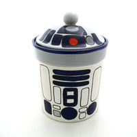 Star Wars (R) Inspired Funny Cookie Jar for Sci Fi Fan, Geek, Droid Lover
