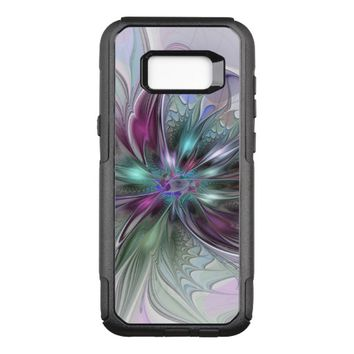 Colorful Fantasy Abstract Modern Fractal Flower OtterBox Commuter Samsung Galaxy S8+ Case