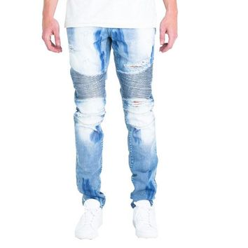 ONETOW Embellish NYC Wilma Jeans In Light Blue