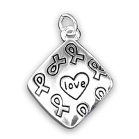 Square Love Charm for Autism Awareness