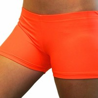 Bright Neon Orange 2.5 inch inseam Spandex Compression Short
