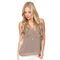 Moonlight Blouse In Mocha