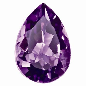 Loose Amethyst Gemstone  9x6mm Pear AA Quality