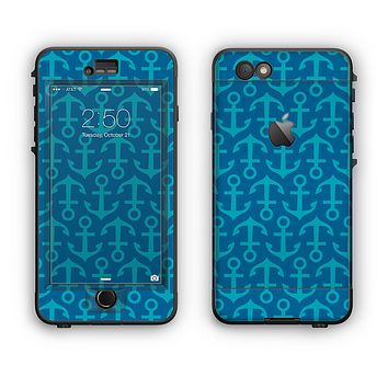 The Blue Anchor Collage V2 Apple iPhone 6 Plus LifeProof Nuud Case Skin Set