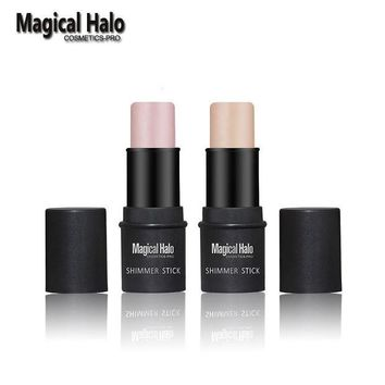 ONETOW 1pc Magical Halo PRO Face Series Shimmer Stick Brighten Highlighter Stick Contour Skin Color 3D Face Gold/silver Bronzer Makeup