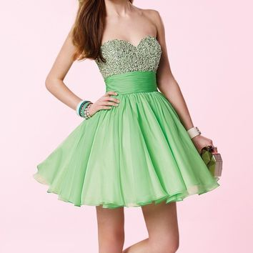 Alyce Prom 3641 Sequin Bodice Ruched Waist Dress