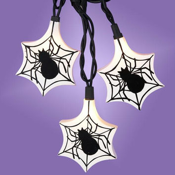 Clear Novelty Halloween Lights - 10 Bulbs On Black Wire