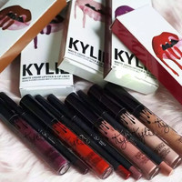 2016NEW Kylie Jenner VelvetMatteLipstick and Pencil Lip Liner Plastics Stick Cool Tone Berry Tint Lip Gloss Cream Lip Kit Posie