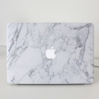 Laptop Decal Cover in White Marble - 15 Inch MacBook air Produced By SHOWPO