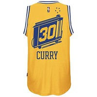Stephen Curry Golden State Warriors Gold Hardwood Classic Jersey