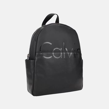 Calvin Klein Women College Leather Satchel Bookbag Backpack Shoulder Bag