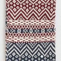 Burgundy and Navy Fairisle Snood