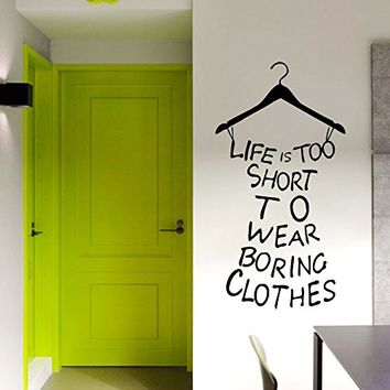 wall decals quotes vinyl sticker decal art home decor murals decal dress quote life is