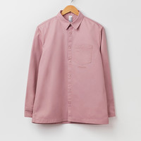 M.C. Overalls Poly Cotton Snap Shirt - Dusky Pink