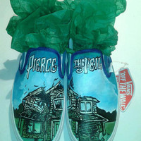Custom Hand Painted Peirce The Veil Slip Ons (NOT VANS BRAND)