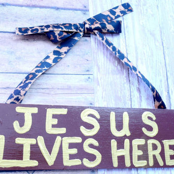 Christian decor As A Door Hanger or Wall Hanging, Christian Wood Wall Art, Brown Decor, Wood Wall Decor