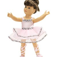 "Fits American Girl Ballet Outfit - 18 Inch Doll Clothes/clothing Includes 18"" Shoes"