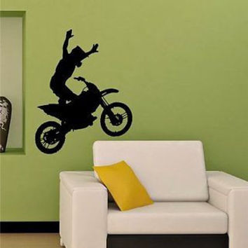 Motocross Dirt Bike Stunts Wheelie Wall Art Sticker Decal m567