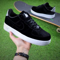 Nike Air Force 1 '07 Low Velvet Sport Shoes AF1 Black Sneaker - Best Online Sale