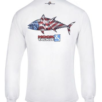 Men's American Tuna L/S UV Fishing T-Shirt