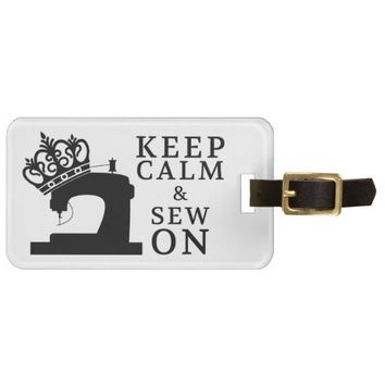 Keep Calm Sew On Crafts / Crown Logo Tag For Luggage