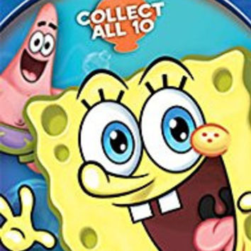 SpongeBob Squarepants Temporary Tattoos, 10 sheets, Spongebob, Patrick, Squidward, Mr. Krabs, & Plankton