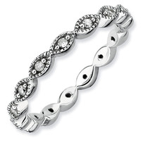 Infinity Diamond Stackable Ring 1/5ctw