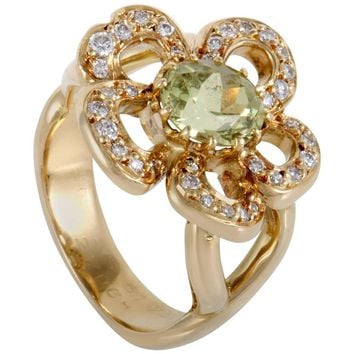 Hermès Peridot Diamond Yellow Gold Ring