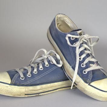 80s converse made in usa blue chuck taylor low top converse allstars 7 womens 5 mens