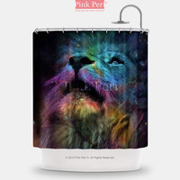 Galaxy Lion Shower Curtain Free shipping Home & Living Bathroom 105