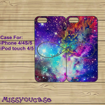 iphone 4 case,iphone 4s case,cute iphone 4 case,iphone 5 case,cute iphone 5 case,nebula,Fox Nebula,Infinity,best friends,in plasitc,silicone