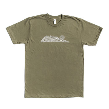 Golden West Logo Tee - Lieutenant Green