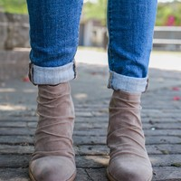 Middle of the Road Booties - Taupe