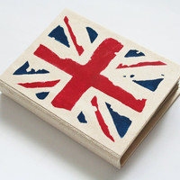 Handmade sketchbook with British flag - Union Jack - paper cover