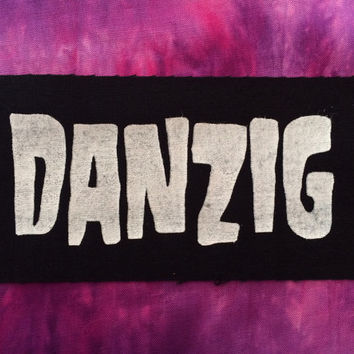 Danzig Black Fabric Sew On Patch